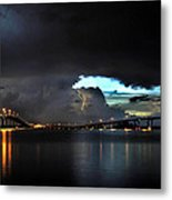 Lightning And The Cerulean Sky Metal Print