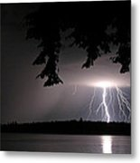 Lightning At Night Metal Print