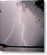 Lightning At The Lake Metal Print