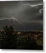Lightning Crashes Metal Print