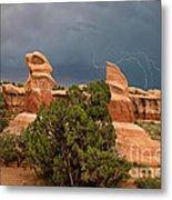 Lightning Devils Garden Escalante Grand Staircase Nm Utah Metal Print