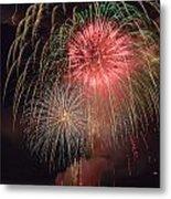 Lightning Fireworks Metal Print
