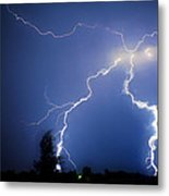 Lightning In Montrose Colorado Metal Print