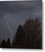 Lightning Over Grants Pass Metal Print