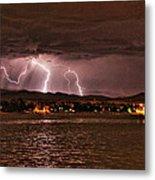 Lightning Over Lake Loveland Metal Print