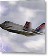 Lightning Speed Metal Print by Peter Chilelli