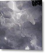 Lightning Storm Mustang Metal Print