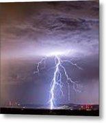 Lightning Strikes Following The Rain  Metal Print