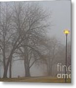 Lights And Fog Setting The Mood Metal Print