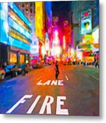 Lights Are Bright On Broadway - Times Square Metal Print