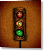 Lights At The Crossing Metal Print by Gianfranco Weiss