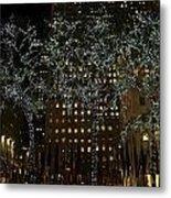 Lights In Rockefeller Center Metal Print