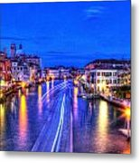 Lights On The Canal Metal Print