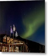 Lights Over Princess Denali Lodge Metal Print