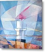 Lightscape At Sea Metal Print