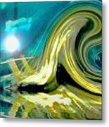 Like A Wave On The Beach Metal Print