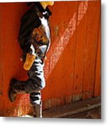 Lil Cowboy In Sun Metal Print