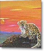 Lil' Leopard Metal Print