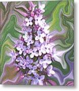 Lilac Abstract Metal Print
