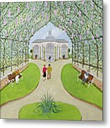 Lilac Arbour Oil On Board Metal Print