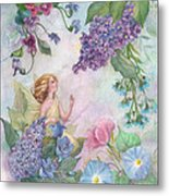 Lilac Enchanting Flower Fairy Metal Print