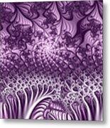 Lilac Fractal World Metal Print
