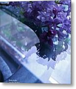 Lilac Glass Metal Print