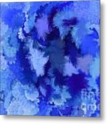 Lilac Of The Valley Blue White Metal Print