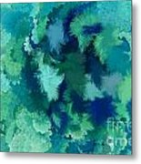 Lilac Of The Valley Teal Green Metal Print