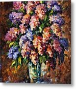 Lilac - Palette Knife Oil Painting On Canvas By Leonid Afremov Metal Print
