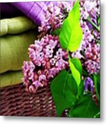 Lilac Still Life Metal Print by Lainie Wrightson