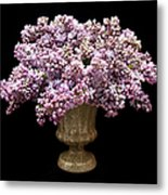 Lilacs In A Green Vase - Flowers - Spring Bouquet Metal Print