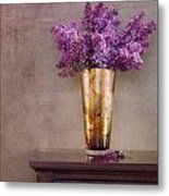 Lilacs In Vase 1 Metal Print