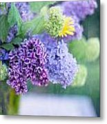 Lilacs On The Table Metal Print by Rebecca Cozart