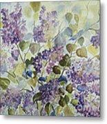 Lilacs Metal Print by Paula Marsh