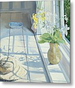 Lilies And A Straw Hat Metal Print