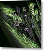 Lilies Of The Fractal Valley Metal Print