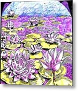 Lilies Of The Lake Metal Print