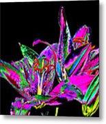 Lilies Pop Art Metal Print