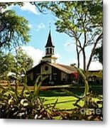 Liliuokalani Church - Haleiwa Hawaii Metal Print