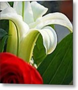 Lilly And Rose Metal Print