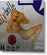 Lillybelle Nose Art Metal Print by Cinema Photography