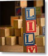 Lily - Alphabet Blocks Metal Print