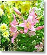 Lily And Friends Metal Print