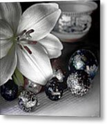 Lily And Marbles Metal Print