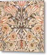 Lily And Pomegranate Wallpaper Design Metal Print by William Morris