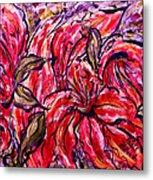 Lily Glow Metal Print