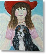 Lily Little Angel Of Self Empowerment Metal Print by The Art With A Heart By Charlotte Phillips