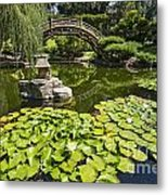 Lily Pad Garden - Japanese Garden At The Huntington Library. Metal Print