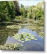 Lily Pond - Monets Garden Metal Print